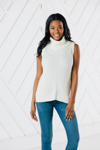 Button Back Cowl Neck Top