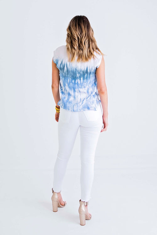 Tie Dye Scoop Top