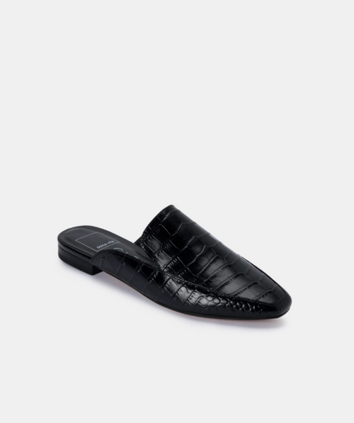 Harmny Croc Leather Slide