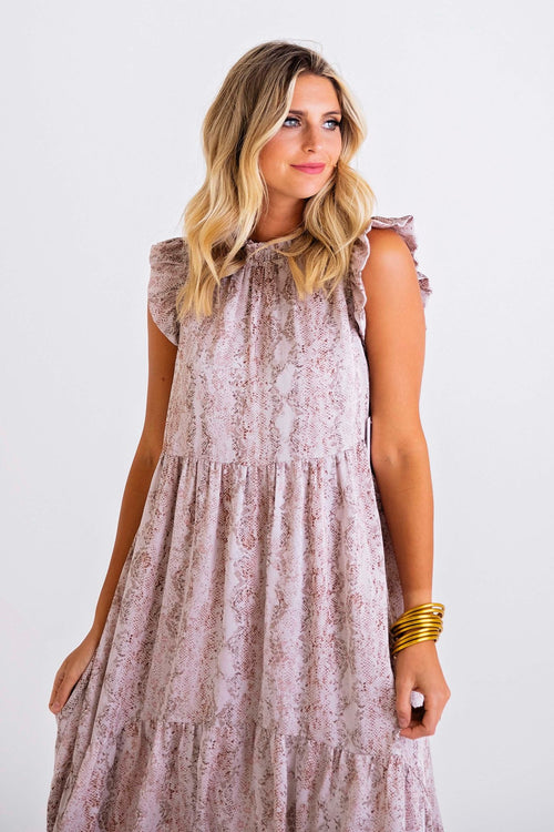 Serpent Hi-Lo Dress