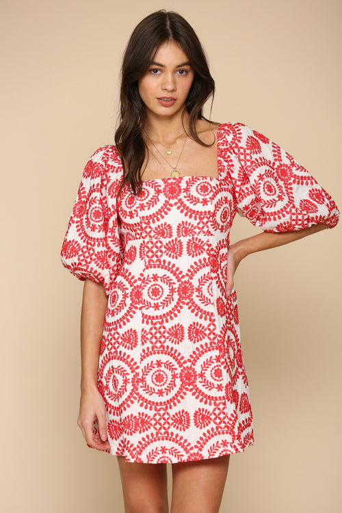 Fiesta Puff Sleeve Dress