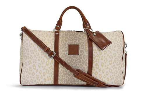 Belmont Duffle in Beige Animal Print