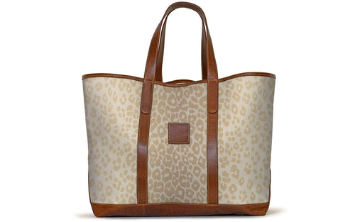 St. Charles Yacht Tote - Blonde Snow Leopard