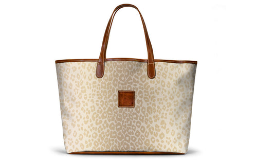 St. Anne Tote in Beige Animal