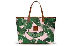 St. Anne Tote in Palm Print