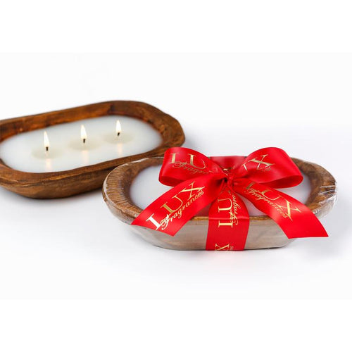 Home for the Holidays 3-Wick Dough Bowl Candle