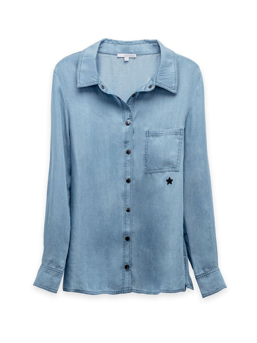 Back in the Day Chambray Top