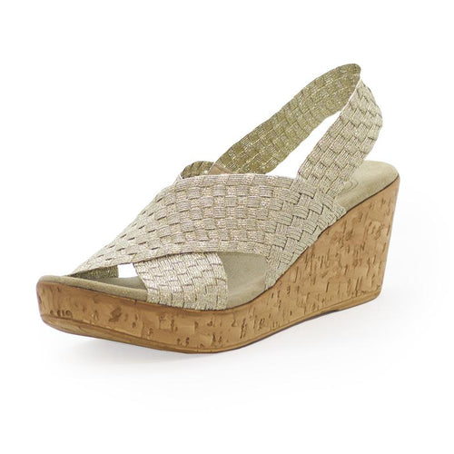 MED Wedge - Gold Woven