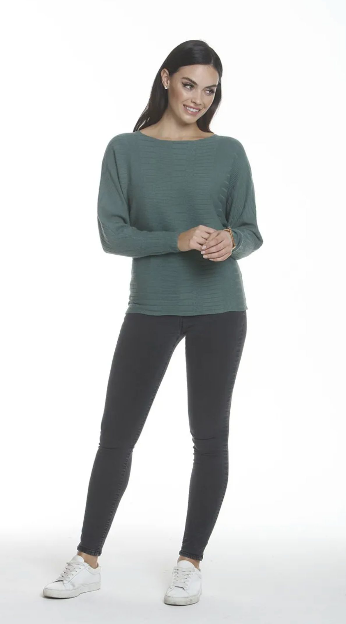 Coastal Pines Wide Neck Sweater