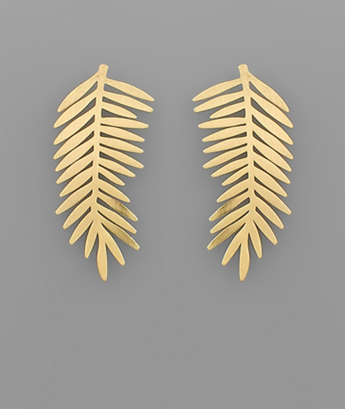 Gold Dainty Palm Earrings