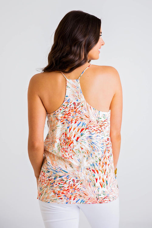 Colorful Abstract Racer Back Tank
