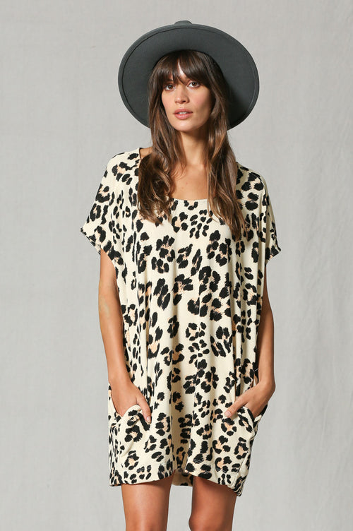 Leopard Slouch Tunic