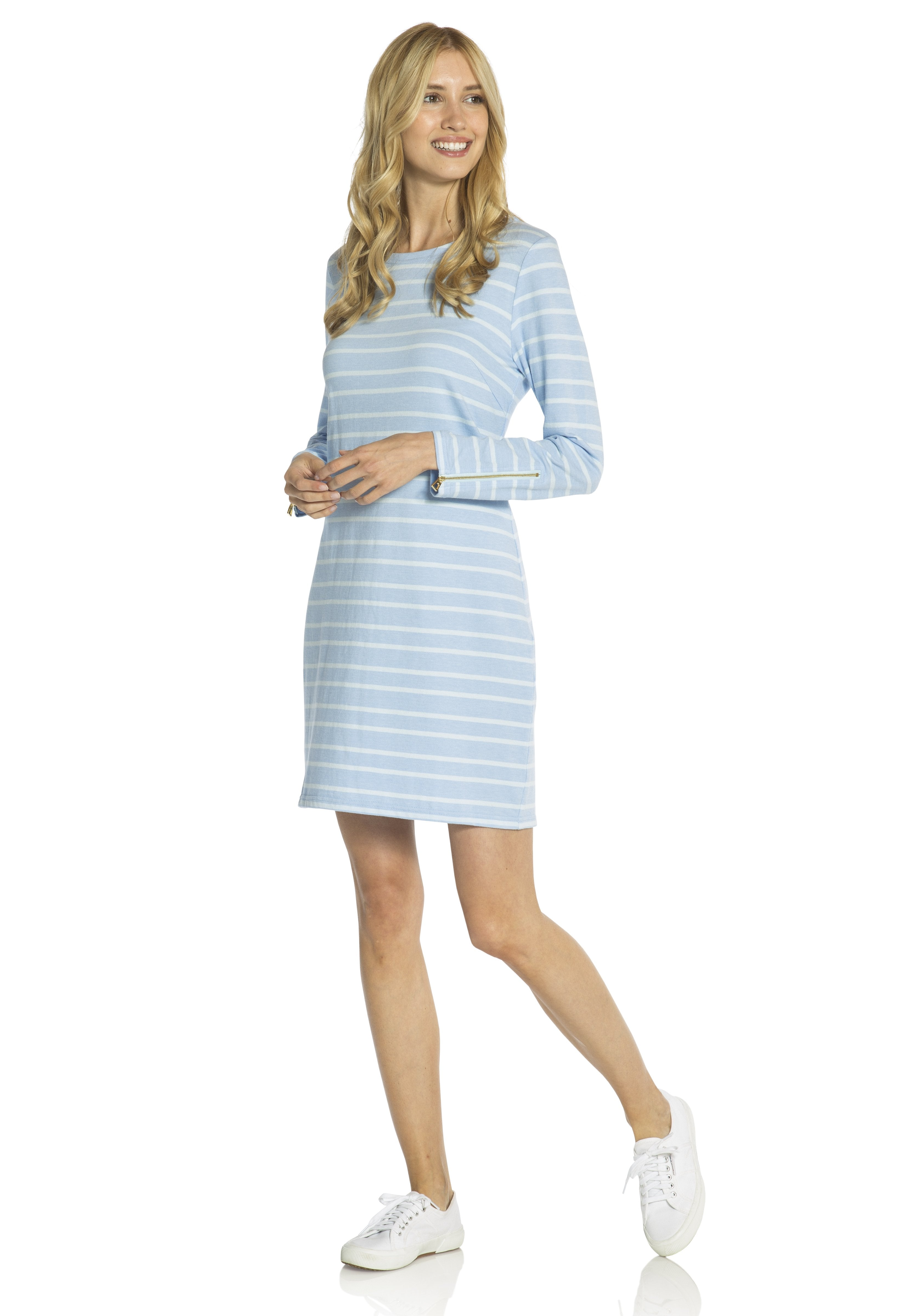 Striped Long Sleeve Dress