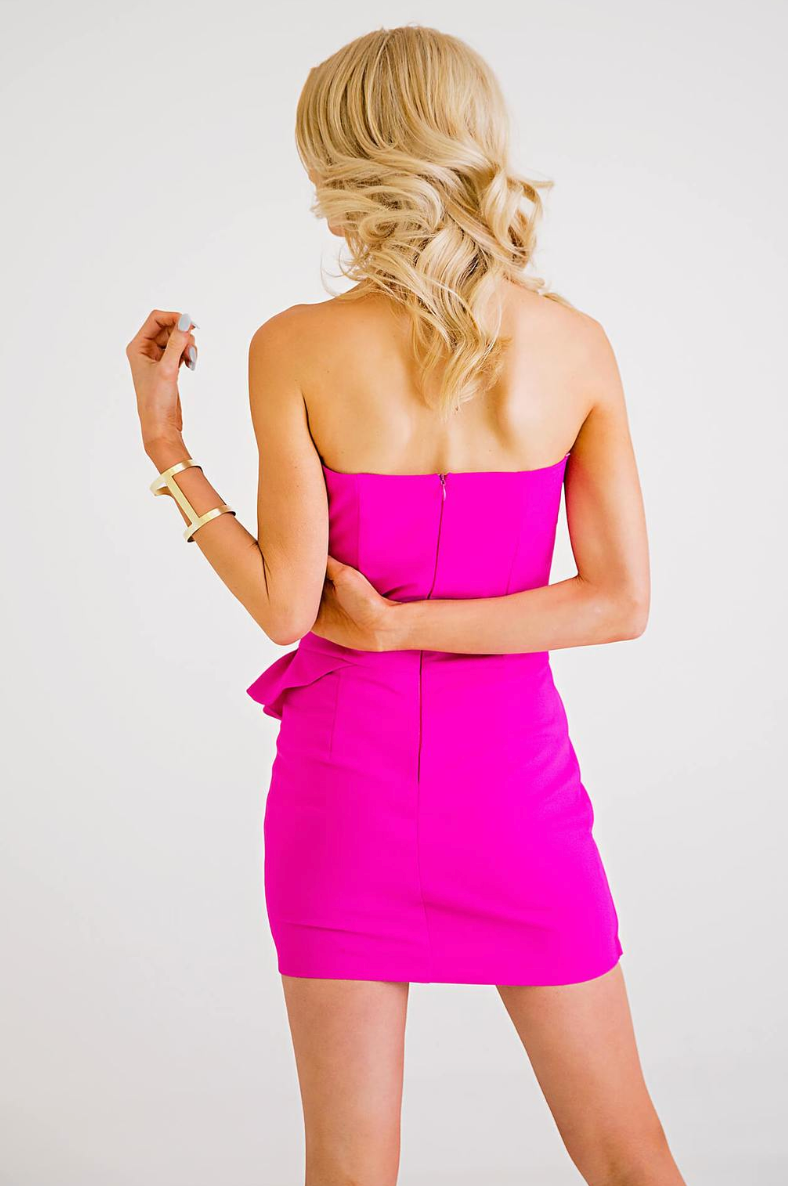 Bustier Ruffle Dress