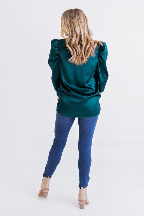 Emerald City Puff Sleeve Top
