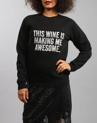 Wine Glitter Sweater