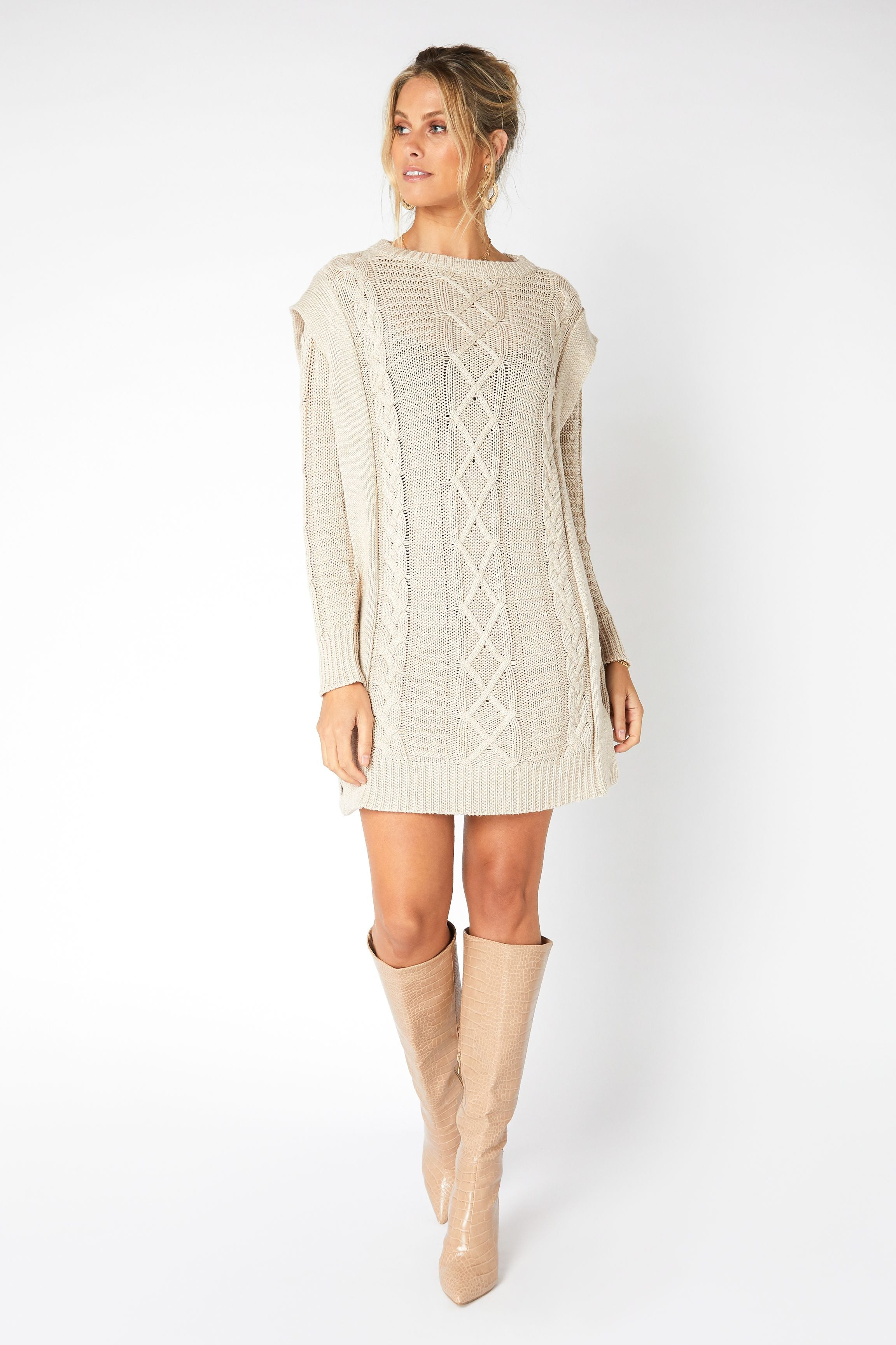 Laney Knit Sweater Dress