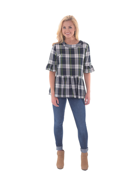 Betty B Top - Plaid