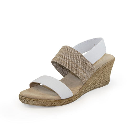 Cooper Wedge - White and Linen