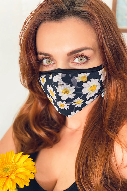 Daisy Floral Mask
