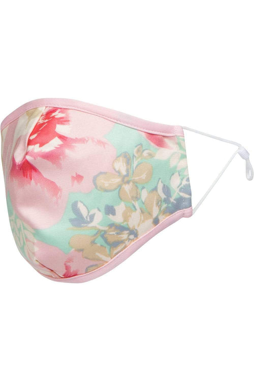 Pastel Pink Meadow Floral Mask