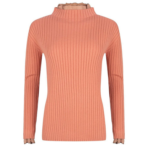 Georgette Ribbed Sleeve Sweater