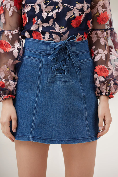 Inverse Denim Skirt