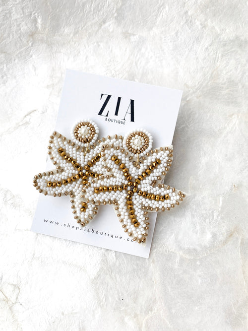 Beaded Starfish Earrings