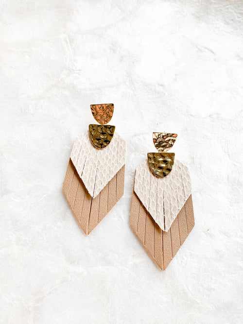 Leather Fringed Earrings