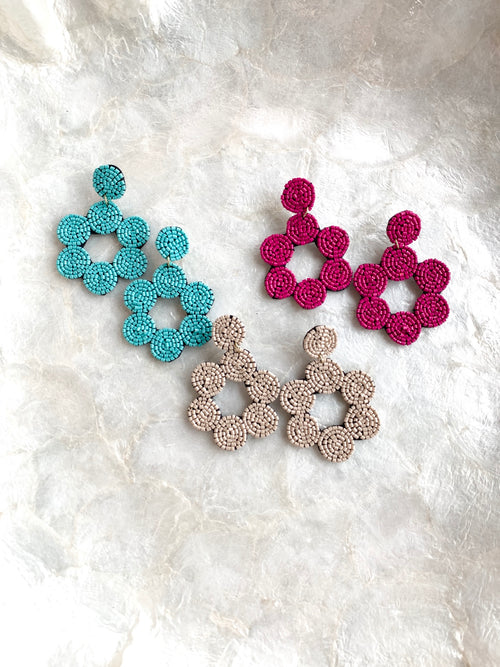 Beaded Circles Earrings