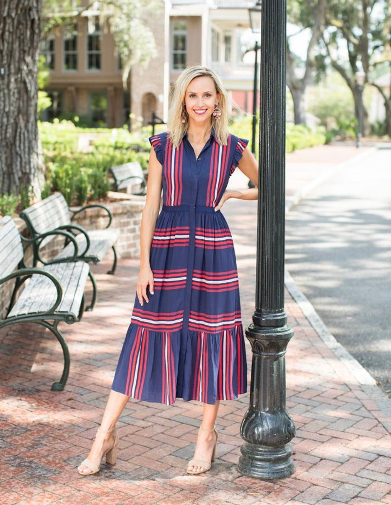 Collection Striped Maxi Shirtdress