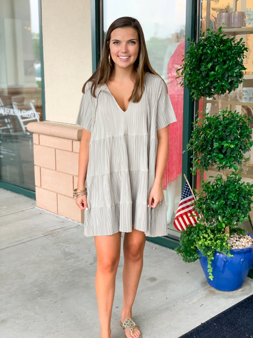 Crinkle Tier Boho Dress