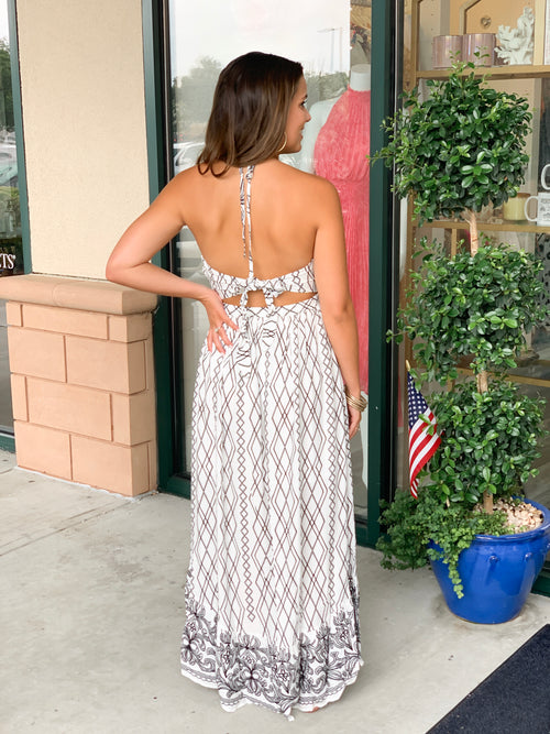 Shore Thing Embroidered Maxi