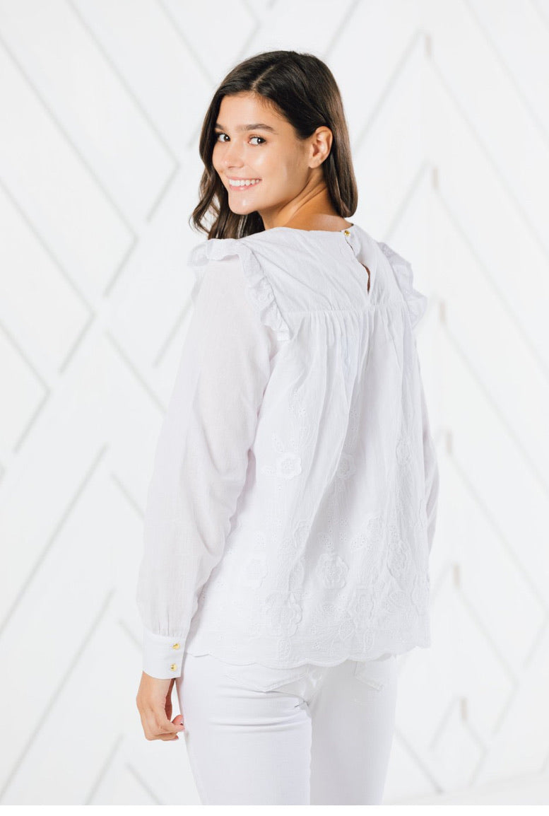 Embroidered Longsleeve Top