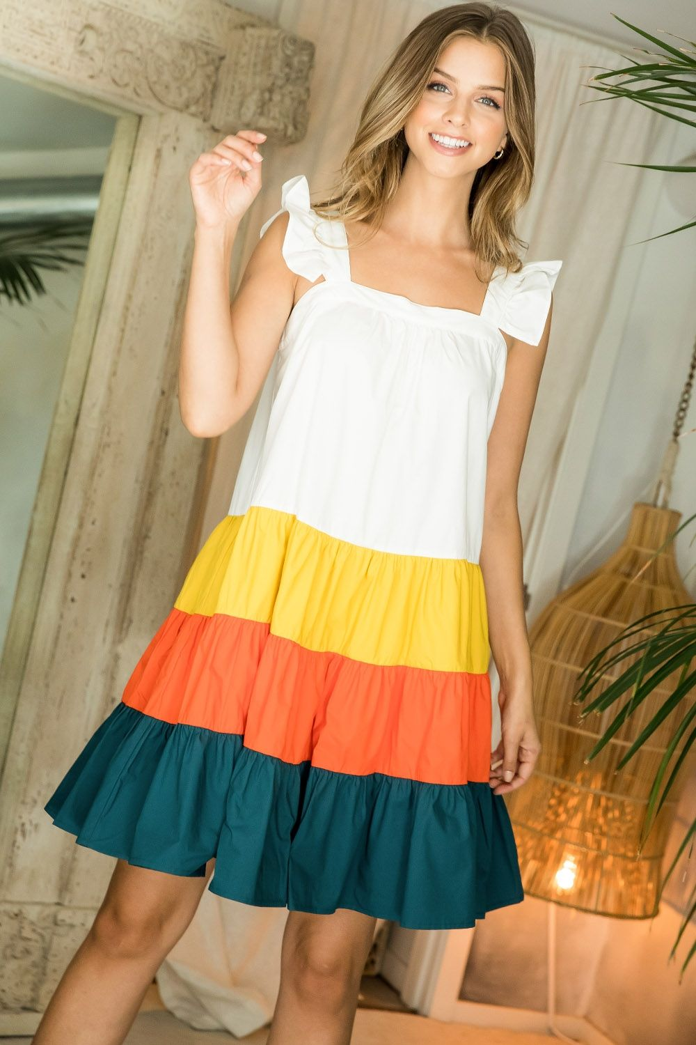 Santorini Color Block Dress
