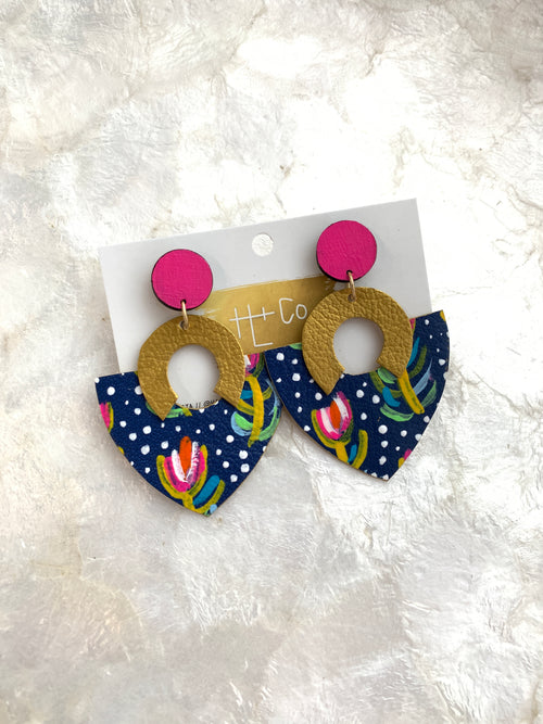 Daisey Painted Earrings