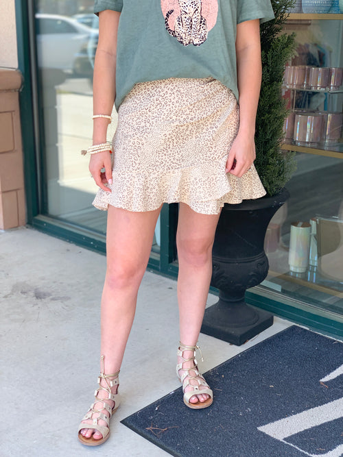 Halsey Animal Mini Skirt