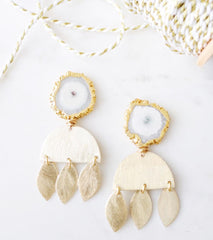 Geode Luna Earrings