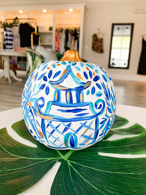 Blue Ginger Jar Pumpkin - Small