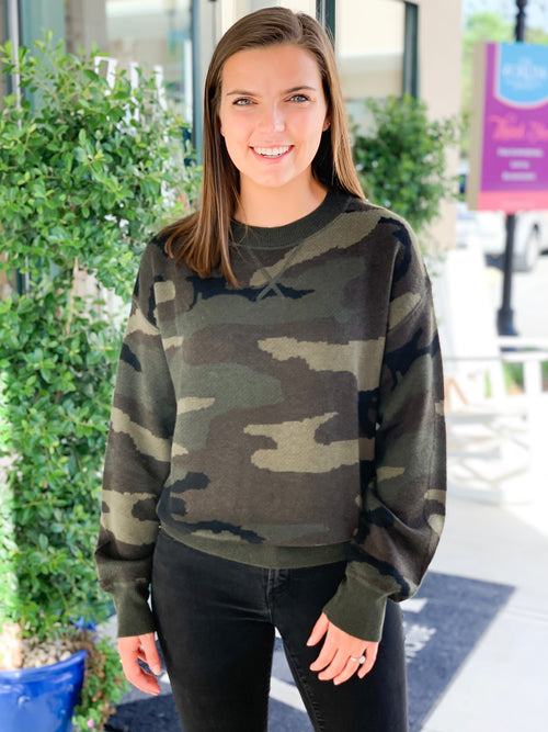 Welles Camo Knit Sweater