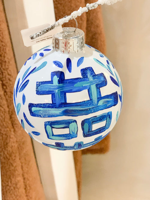 Blue and White Pagoda / Ginger Jar Ornament - Size Medium