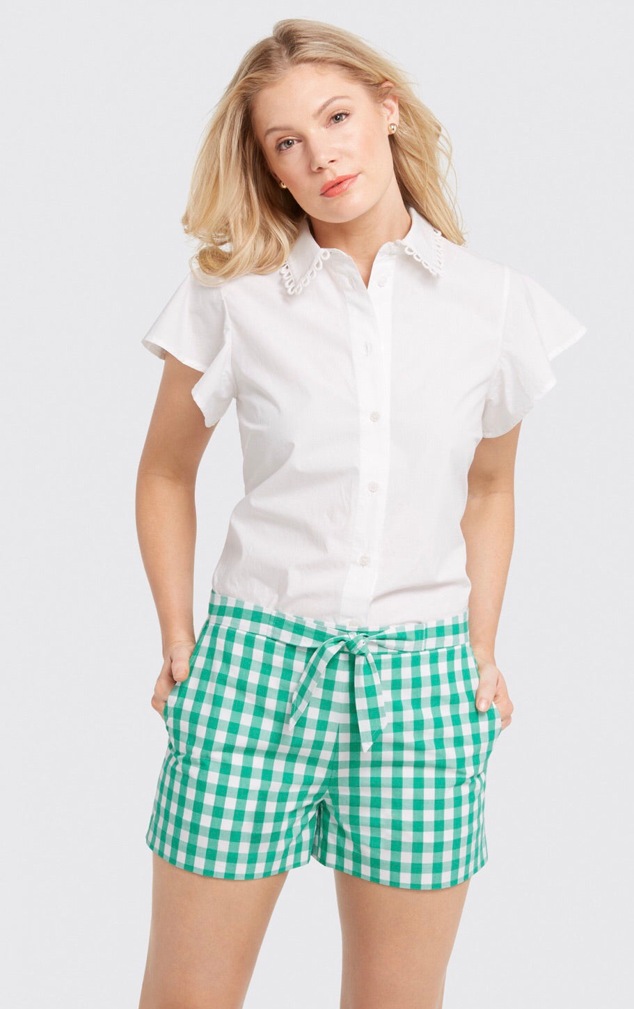 Dolly Check Tie Shorts