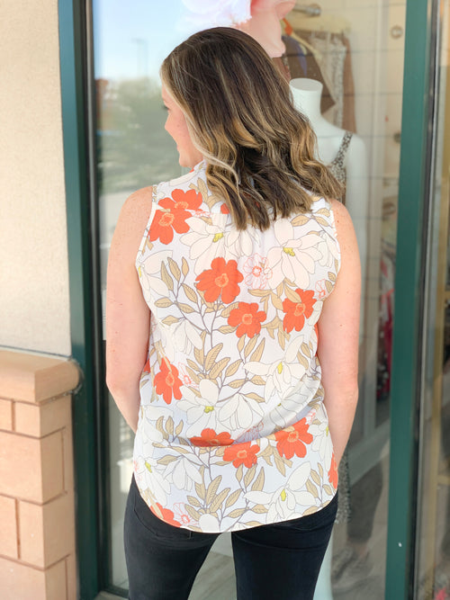 Monroe Floral Sleeveless Top