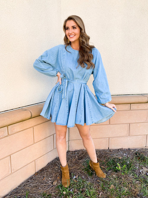 Curious Smock Chambray Dress