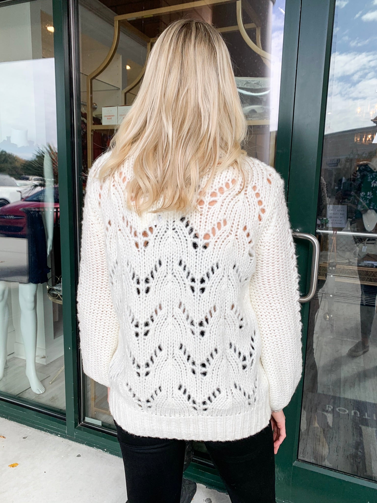 Crew Knit Weave Sweater