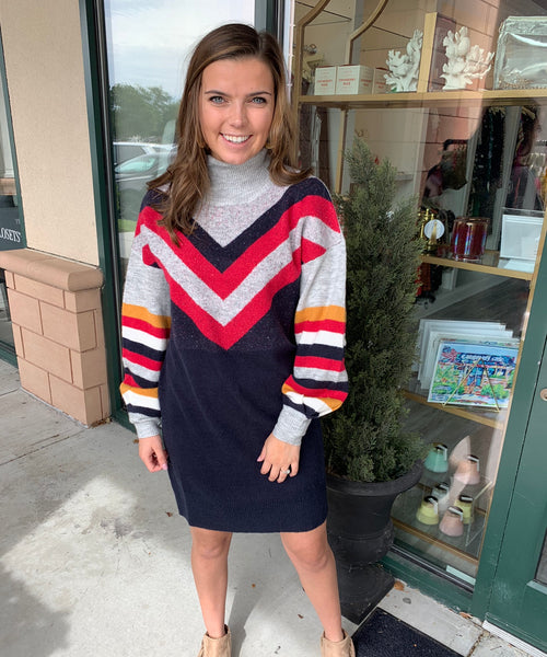 Stripe Me Up Sweater Dress