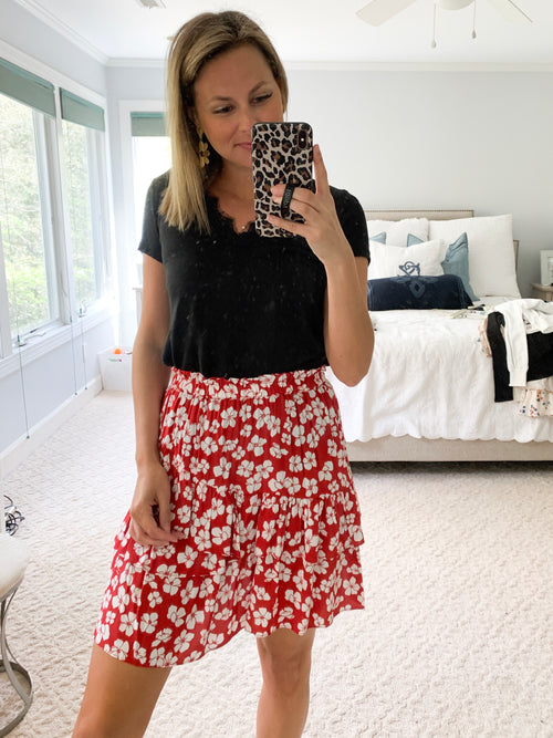 Between You and I Mini Skirt