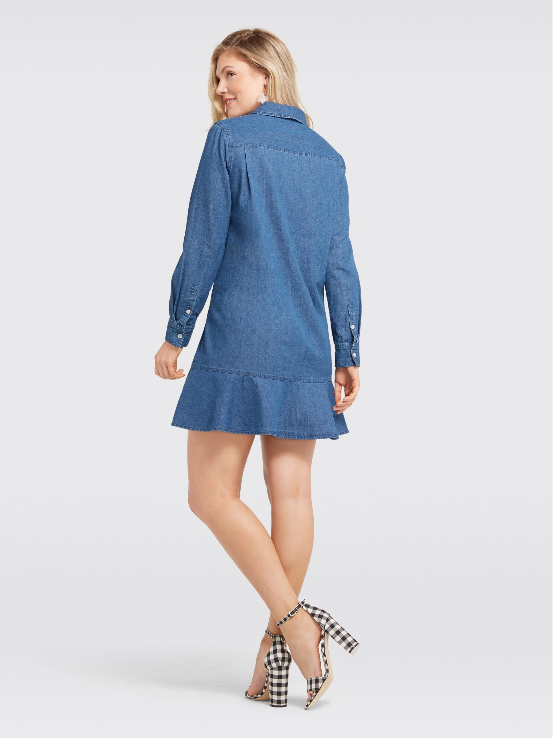Chambray Tulip Shirtdress