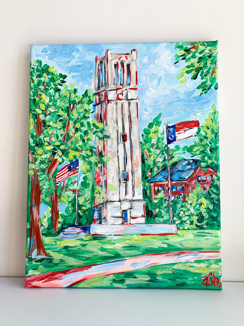 NCSU Belltower - Original Canvas