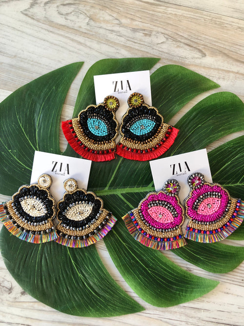 Colorful Fringe Earrings